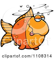 Clipart Drunk Goldfish Royalty Free Vector Illustration by Cory Thoman