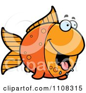 Clipart Hungry Goldfish Royalty Free Vector Illustration by Cory Thoman