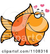 Clipart Amorous Goldfish Royalty Free Vector Illustration by Cory Thoman