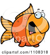 Clipart Scared Goldfish Royalty Free Vector Illustration by Cory Thoman