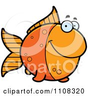 Clipart Happy Goldfish Royalty Free Vector Illustration