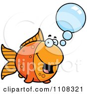 Clipart Talking Goldfish Royalty Free Vector Illustration by Cory Thoman