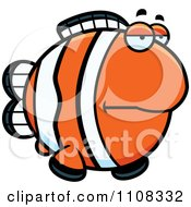Clipart Bored Clownfish Royalty Free Vector Illustration by Cory Thoman