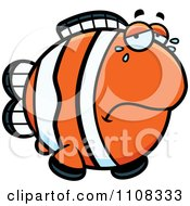 Clipart Crying Clownfish Royalty Free Vector Illustration
