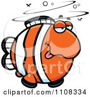 Clipart Drunk Clownfish Royalty Free Vector Illustration by Cory Thoman