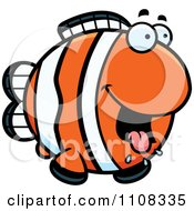 Clipart Hungry Clownfish Royalty Free Vector Illustration