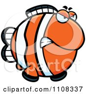 Clipart Angry Clownfish Royalty Free Vector Illustration by Cory Thoman