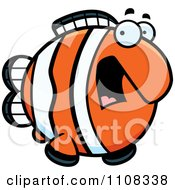 Clipart Scared Clownfish Royalty Free Vector Illustration by Cory Thoman