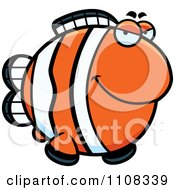 Clipart Sly Clownfish Royalty Free Vector Illustration by Cory Thoman