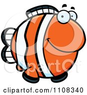 Clipart Happy Clownfish Royalty Free Vector Illustration by Cory Thoman