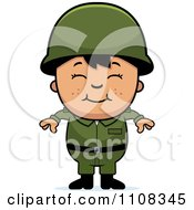 Clipart Happy Asian Army Boy Royalty Free Vector Illustration