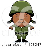 Clipart Happy Black Army Girl Royalty Free Vector Illustration by Cory Thoman