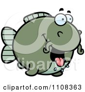 Clipart Hungry Chubby Catfish Royalty Free Vector Illustration by Cory Thoman