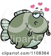 Clipart Amorous Chubby Catfish Royalty Free Vector Illustration by Cory Thoman