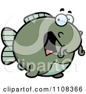 Clipart Scared Chubby Catfish Royalty Free Vector Illustration by Cory Thoman