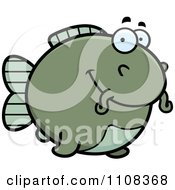 Clipart Happy Chubby Catfish Royalty Free Vector Illustration