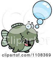 Clipart Talking Chubby Catfish Royalty Free Vector Illustration