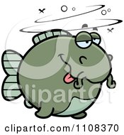 Clipart Drunk Chubby Catfish Royalty Free Vector Illustration