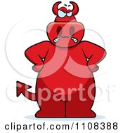 Clipart Mad Big Red Devil Royalty Free Vector Illustration