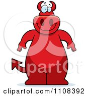 Clipart Big Red Devil Royalty Free Vector Illustration by Cory Thoman