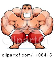 Clipart Happy Buff Boxer Royalty Free Vector Illustration by Cory Thoman