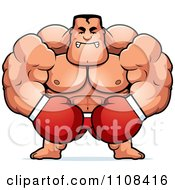 Clipart Angry Buff Boxer Royalty Free Vector Illustration by Cory Thoman