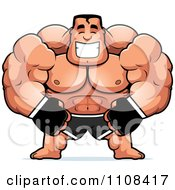 Clipart Happy Buff MMA Fighter Royalty Free Vector Illustration by Cory Thoman
