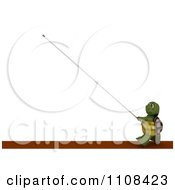 Clipart 3d Tortoise Pole Vault Track And Field Athlete 1 Royalty Free CGI Illustration