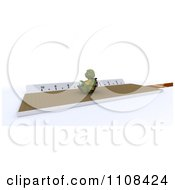 Clipart 3d Tortoise Triple Jumper Track And Field Athlete Royalty Free CGI Illustration