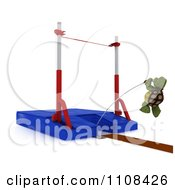 Clipart 3d Tortoise Pole Vault Track And Field Athlete 3 Royalty Free CGI Illustration