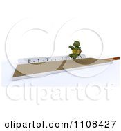 Clipart 3d Tortoise Long Jumper Track And Field Athlete 2 Royalty Free CGI Illustration