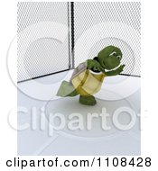 Clipart 3d Tortoise Discus Thrower Track And Field Athlete 1 Royalty Free CGI Illustration