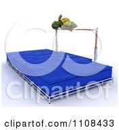 Clipart 3d Tortoise High Jumper Track And Field Athlete 2 Royalty Free CGI Illustration by KJ Pargeter