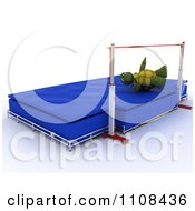 Clipart 3d Tortoise High Jumper Track And Field Athlete 3 Royalty Free CGI Illustration