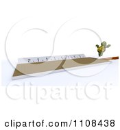 Clipart 3d Tortoise Long Jumper Track And Field Athlete 1 Royalty Free CGI Illustration