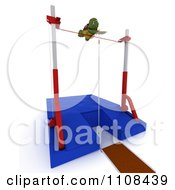 Clipart 3d Tortoise Pole Vault Track And Field Athlete 4 Royalty Free CGI Illustration