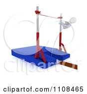 Poster, Art Print Of 3d White Character Pole Vault Track And Field Athlete 4