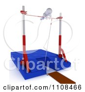 Poster, Art Print Of 3d White Character Pole Vault Track And Field Athlete 5