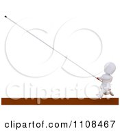 Poster, Art Print Of 3d White Character Pole Vault Track And Field Athlete 6