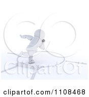 Clipart 3d White Character Shot Put Thrower Track And Field Athlete 1 Royalty Free CGI Illustration