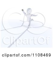 Clipart 3d White Character Shot Put Thrower Track And Field Athlete 2 Royalty Free CGI Illustration