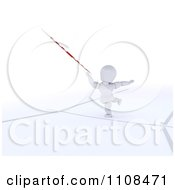 Clipart 3d White Character Javelin Thrower Athlete 2 Royalty Free CGI Illustration