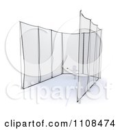 Clipart 3d White Character Discus Thrower In A Cage 3 Royalty Free CGI Illustration