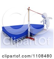 Clipart 3d White Character High Jumper Athlete 1 Royalty Free CGI Illustration