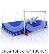 Clipart 3d White Character High Jumper Athlete 3 Royalty Free CGI Illustration