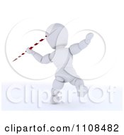 Clipart 3d White Character Javelin Thrower Athlete 1 Royalty Free CGI Illustration
