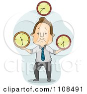 Clipart Businessman Juggling Time Royalty Free Vector Illustration