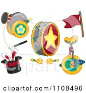 Clipart Circus Entertainment Items 1 Royalty Free Vector Illustration by BNP Design Studio