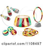 Clipart Circus Entertainment Items 2 Royalty Free Vector Illustration by BNP Design Studio