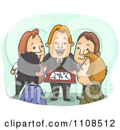 Clipart Business Team Coach Working With His Employees Royalty Free Vector Illustration by BNP Design Studio